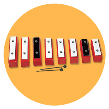 Key of D Diatonic Scale Bell Set