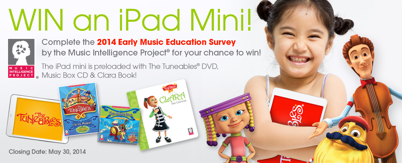 Take part in the 2014 Early Music Education Survey for a chance to win an IPAD Mini!